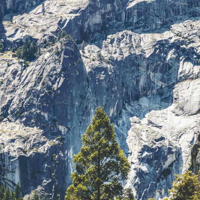 """Yosemite National Park Mist Trail"" stock image"