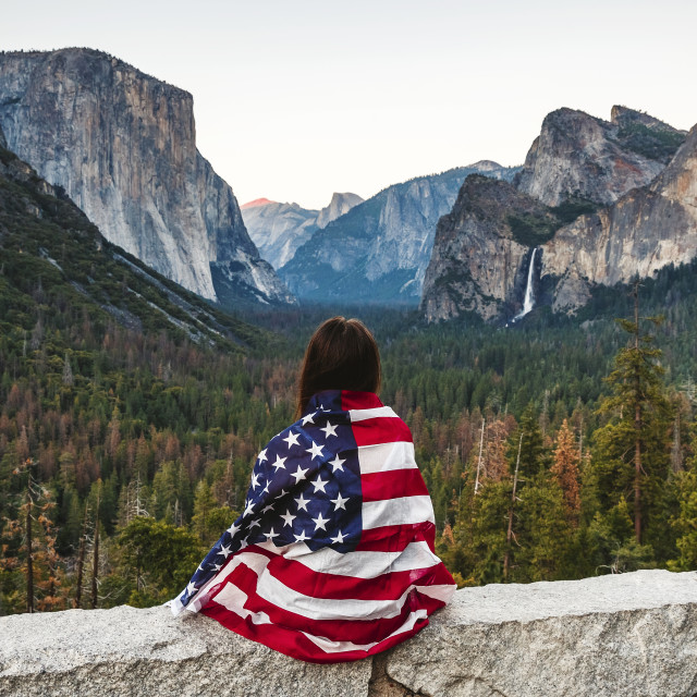 """July 4th Tunnel View Yosemite National Park"" stock image"
