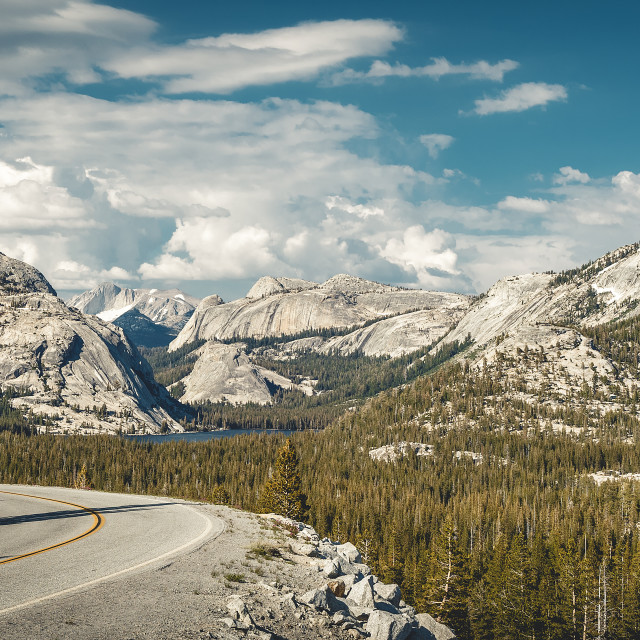 """Olmsted Point Tioga Pass Road"" stock image"