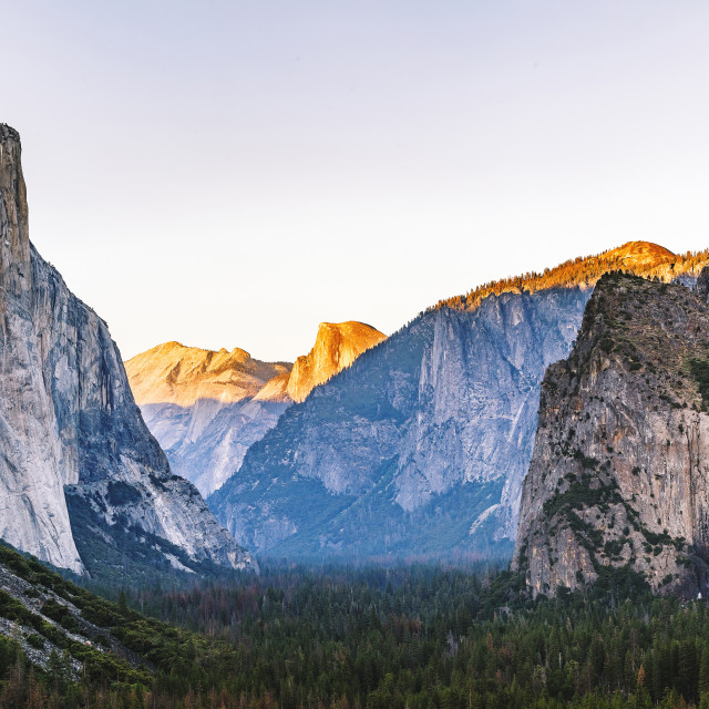 """Tunnel View Yosemite National Park"" stock image"