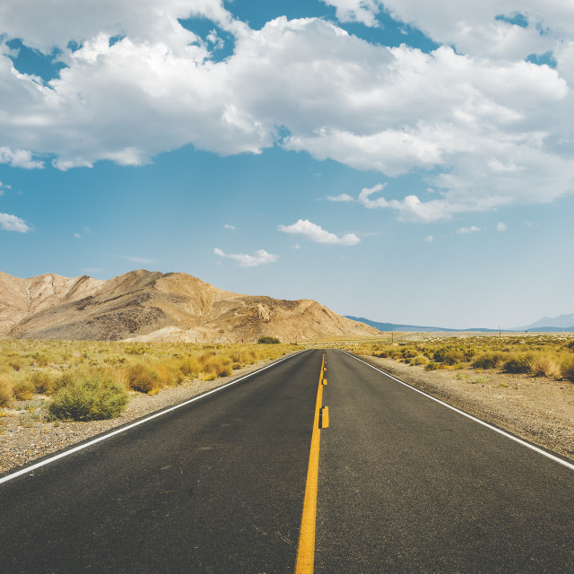 """Death Valley Road"" stock image"
