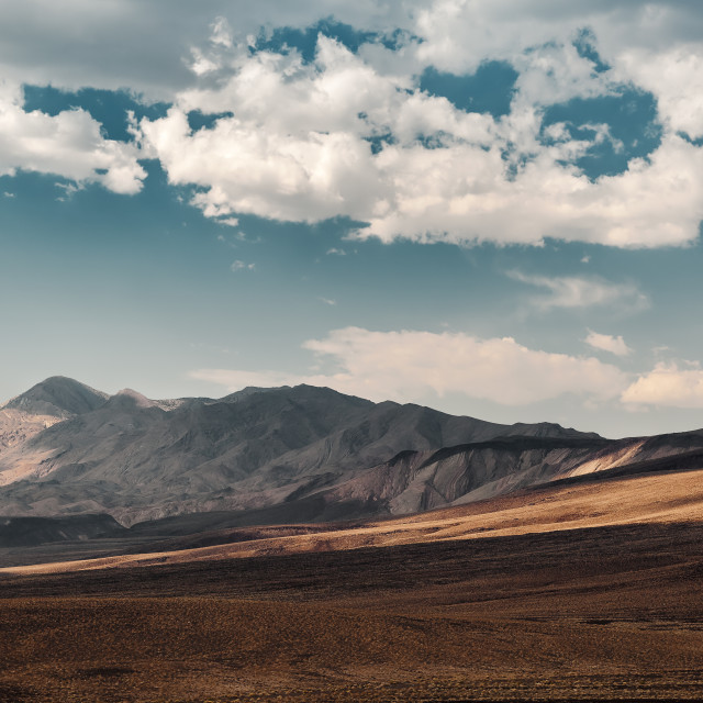 """Death Valley Mountains"" stock image"
