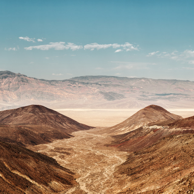 """Father Crowley Point Death Valley"" stock image"