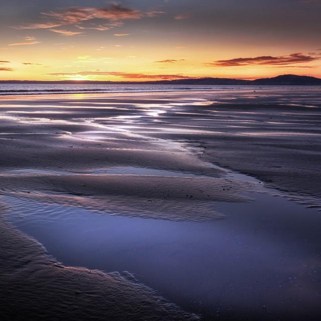 """Aberavon beach puddles"" stock image"