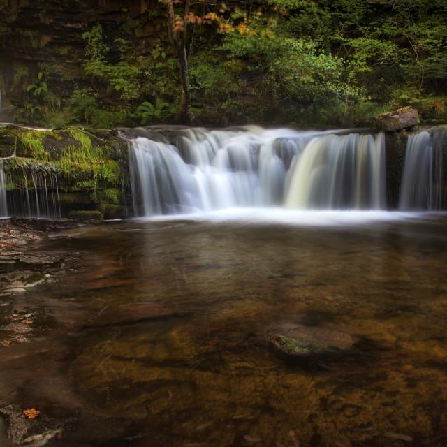 """Sgwd Ddwli Isaf waterfalls South Wales"" stock image"