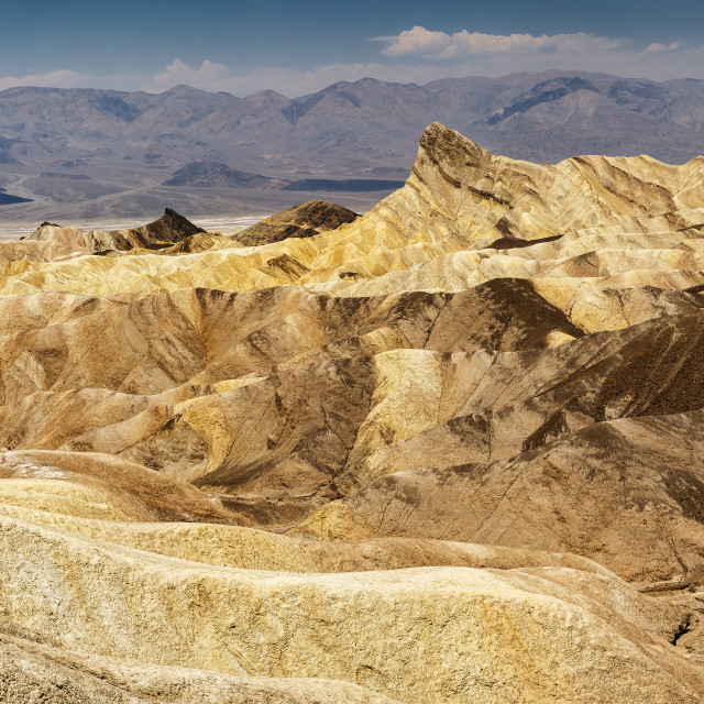 """Zabriskie Point Death Valley"" stock image"