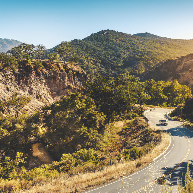 """Carmel Valley Road"" stock image"