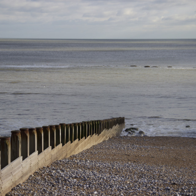 """""""Eastbourne shore"""" stock image"""