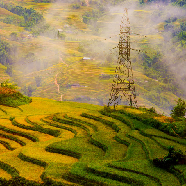 """Muong Hoa Valley (Sapa, Vietnam) in the early morning"" stock image"