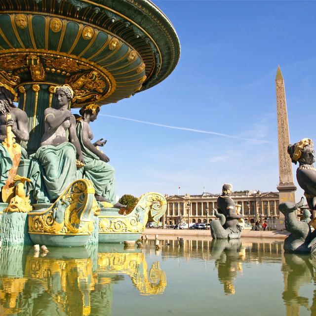"""Place de la Concorde"" stock image"