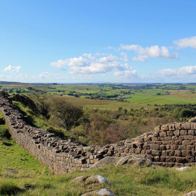 """Hadrian's Wall"" stock image"
