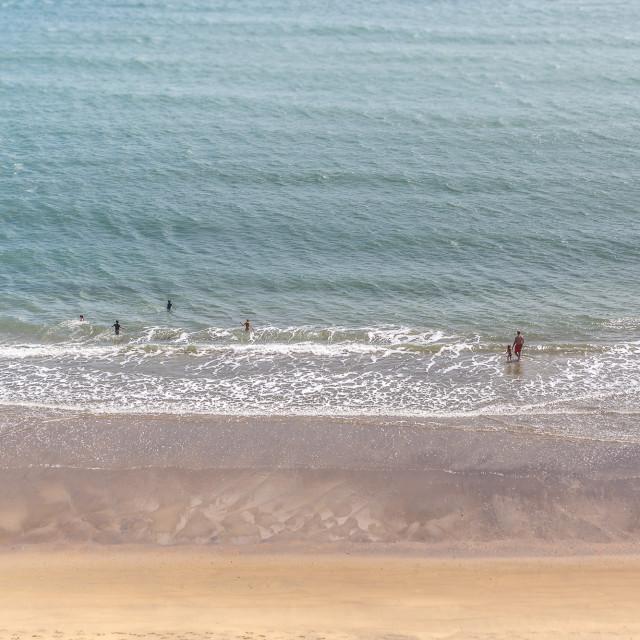 """Sandown Beach on the Isle of Wight"" stock image"