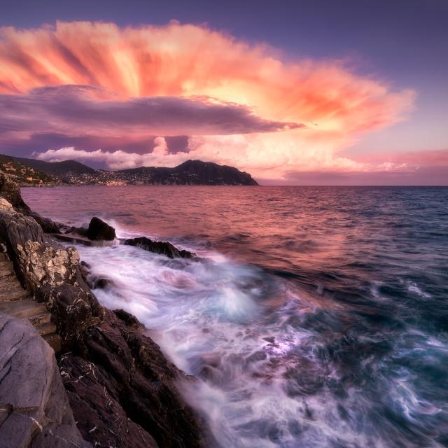 """Atomic sunset"" stock image"