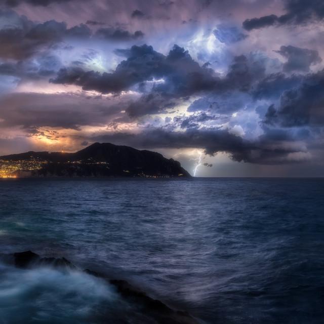 """""""Thunder and lightning"""" stock image"""