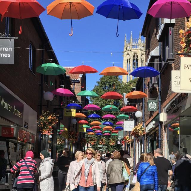 """Its raining sunshine in the City of York UK"" stock image"