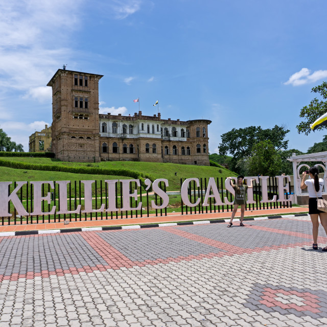 """""""Ipoh, Malaysia - September 17, 2017: Tourist taking photo at Kellie's Castle, popular attraction in Ipoh, Perak."""" stock image"""