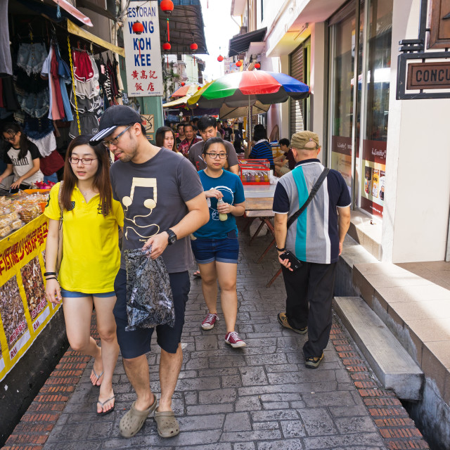 """""""Ipoh, Malaysia - September 17, 2017: Local tourists at Concubine Lane in Ipoh, Perak. Concubine Lane is one of tourist attraction in Ipoh, capital city of Perak State."""" stock image"""
