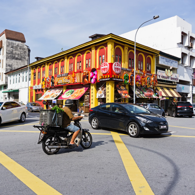 """""""Ipoh, Malaysia - September 17, 2017: Traffic and street view at Little India in Ipoh, capital city of Perak."""" stock image"""