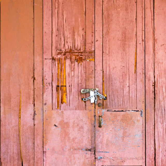 """""""Aged and grunge rustic wood door background with textures"""" stock image"""