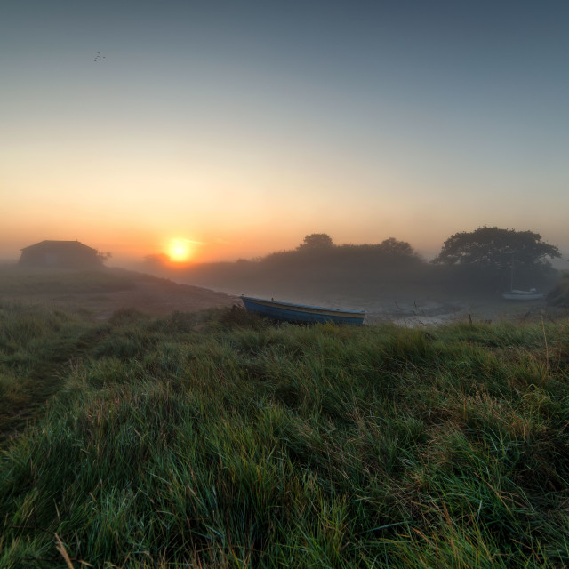 """Misty Sunrise Over Beaumont Sept 2017"" stock image"