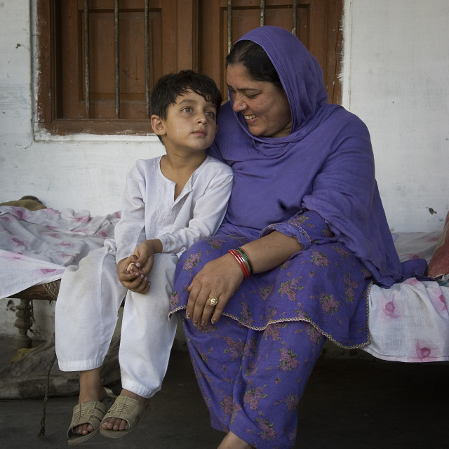 """Samina Hussain lost her daughter in the recent earthquake. The body was not..."" stock image"