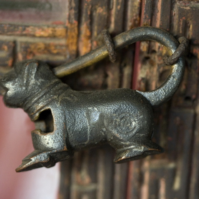 """Antique lock. Thailand, January 17, 2007."" stock image"