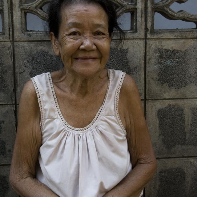 """Old woman, Bangkok, Thailand. January 18, 2007."" stock image"