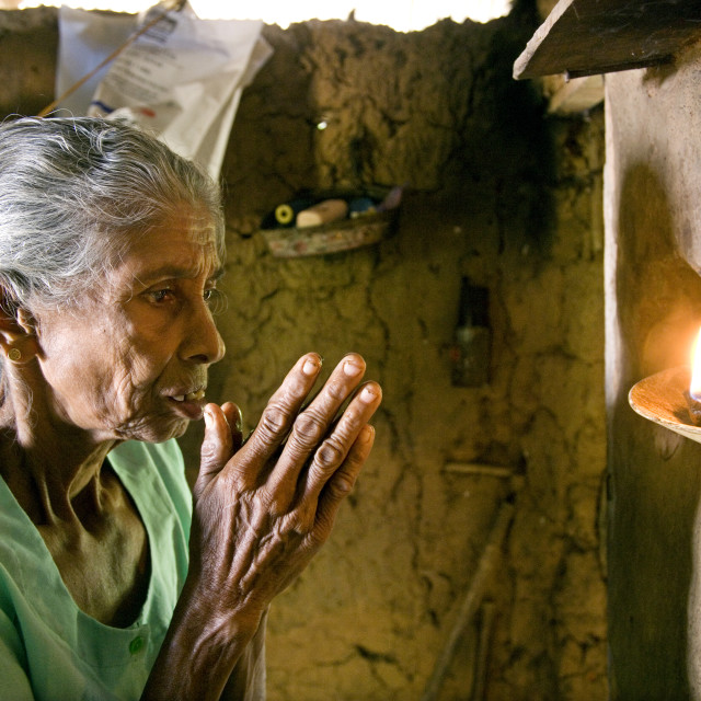"""SD Hinnihami, 65, and her husband used the money donated from Help the Aged..."" stock image"