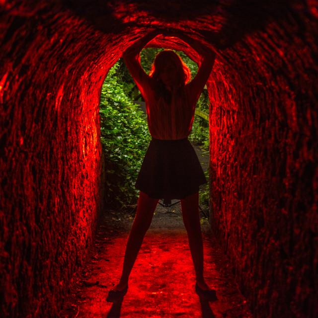 """backlit tunnel"" stock image"