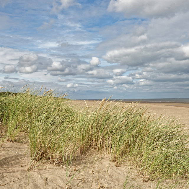 """Beach in Lincolnshire,UK"" stock image"