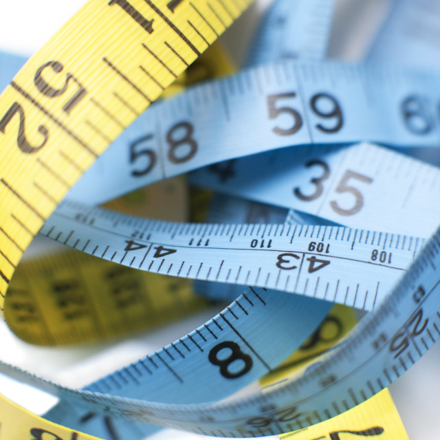 """""""Tape measures"""" stock image"""