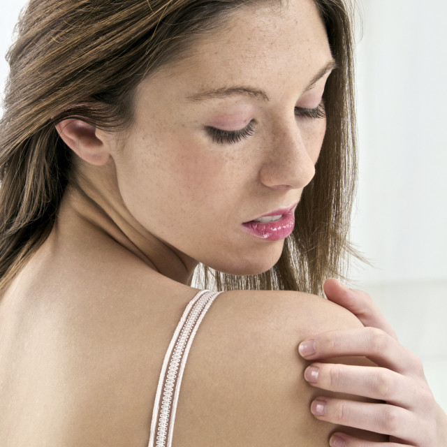 """Sore shoulder"" stock image"
