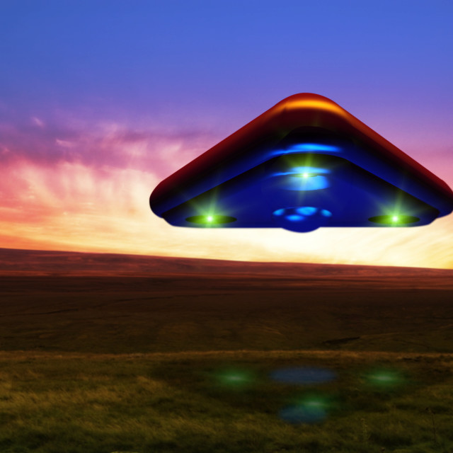 """UFO, artwork"" stock image"