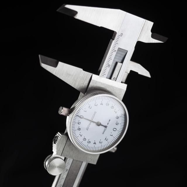 """Dial calipers"" stock image"