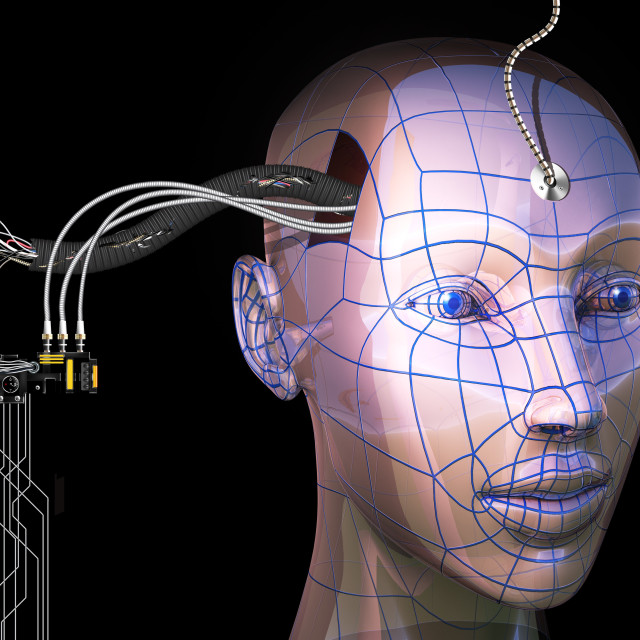 """Artificial intelligence, artwork"" stock image"