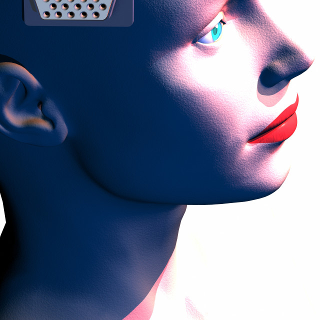 """Artificial intelligence, conceptual image"" stock image"