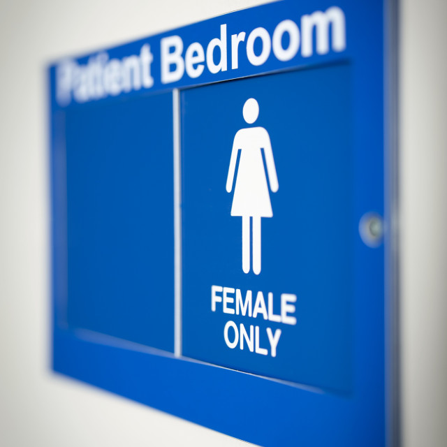 """Single sex ward sign"" stock image"
