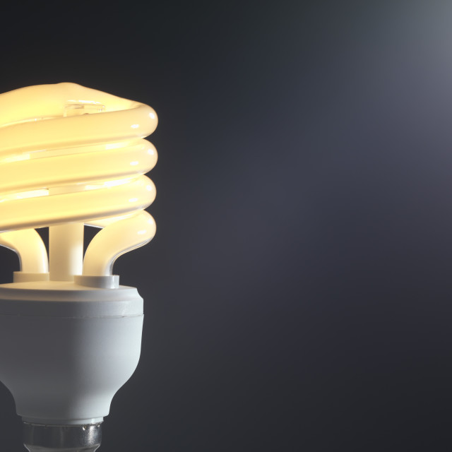 """Energy-saving light bulb"" stock image"