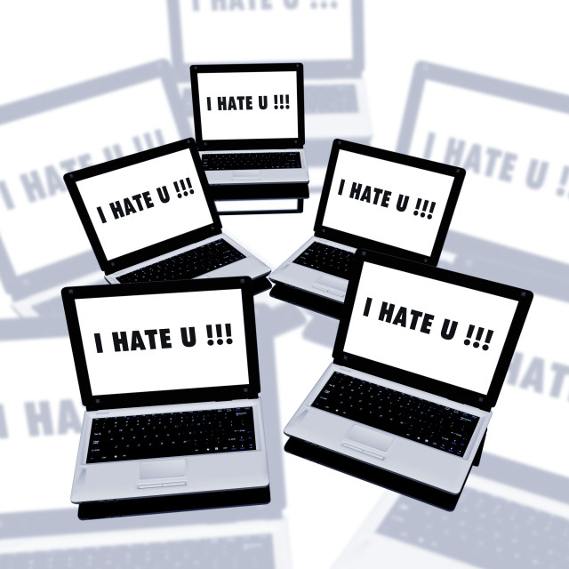 """""""Cyber bullying, conceptual artwork"""" stock image"""