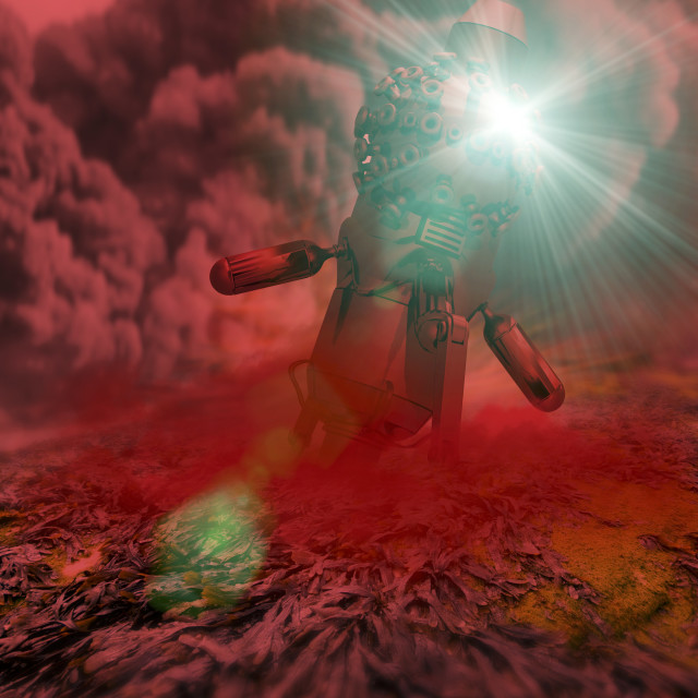 """Alien invasion, conceptual artwork"" stock image"
