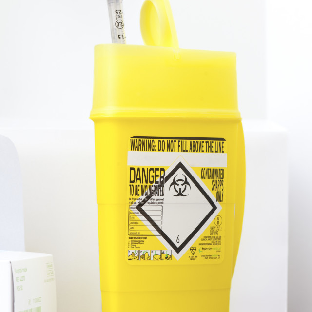 """""""Clinical waste disposal"""" stock image"""