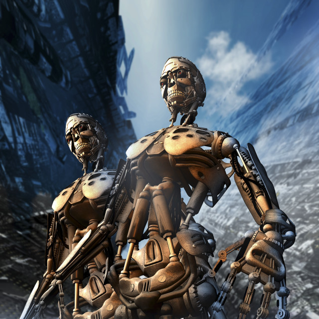 """Cyborgs, artwork"" stock image"