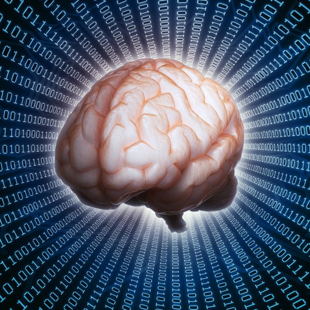 """""""Artificial intelligence, conceptual artwo"""" stock image"""