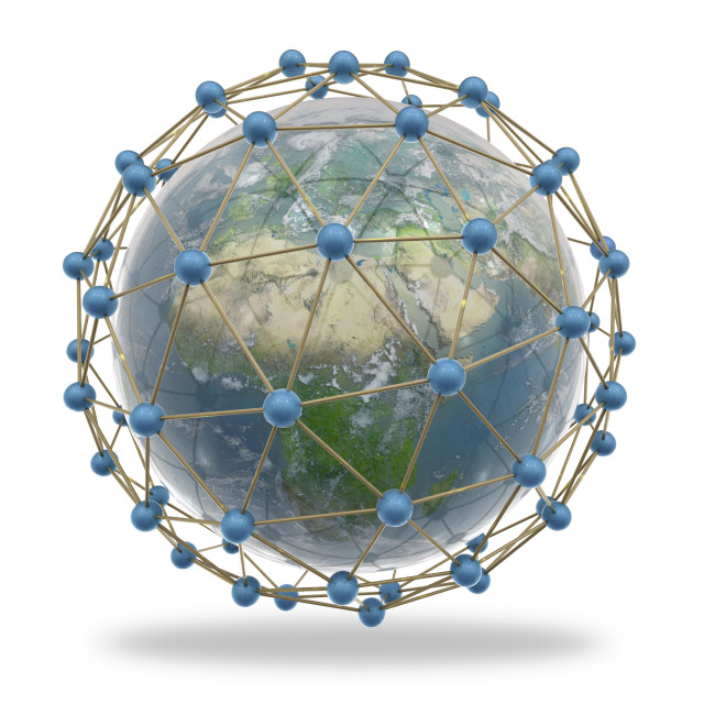 """""""Global connectivity, artwork"""" stock image"""
