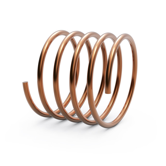 """Metal spring, artwork"" stock image"
