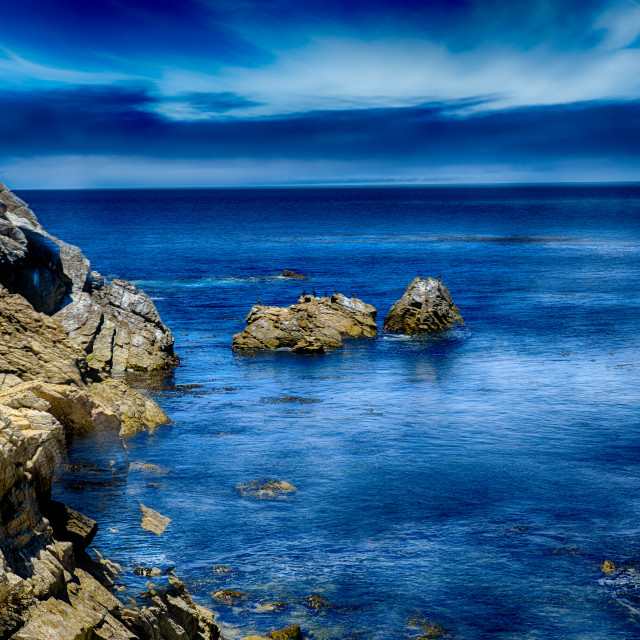 """Lion's Head rock off 17 Mile Dr., Carmel"" stock image"