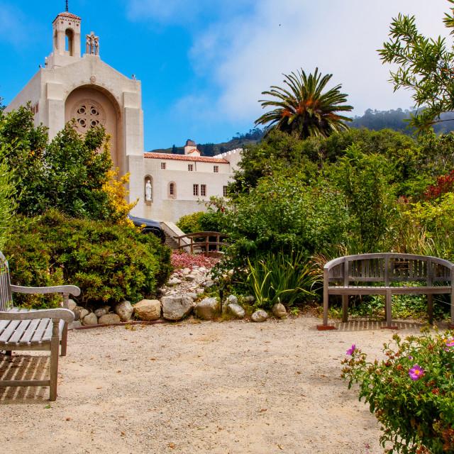 """""""Carmelite Monastery in Carmel, California"""" stock image"""