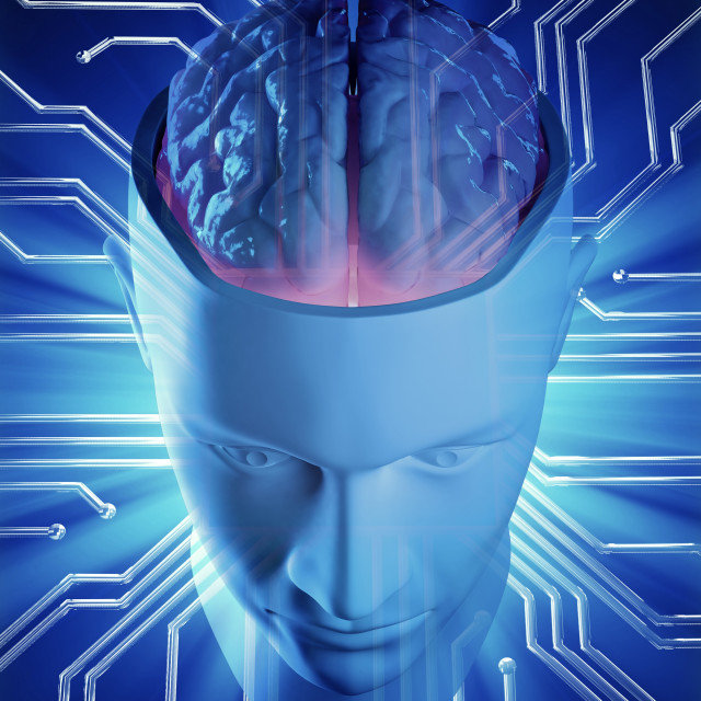 """""""Artificial intelligence, conceptual image"""" stock image"""