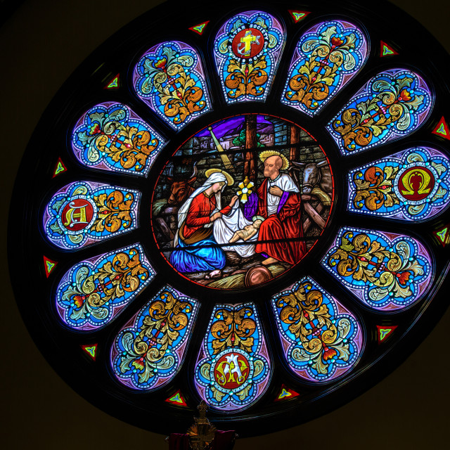 """Rose window"" stock image"