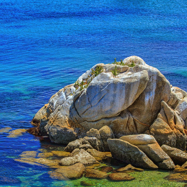 """Monterey Bay rock"" stock image"